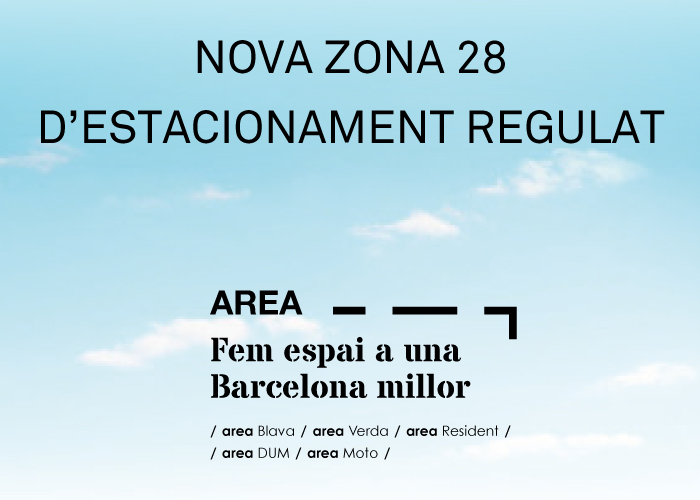 Nova zona d'estacionament regulat al Districte de Sant Martí